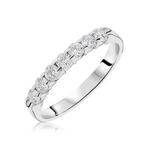 681e72f5a5b488 9ct white gold diamond 7 stone round brilliant cut diamond eternity in claw  setting. Diamond total carat weight D.50ct