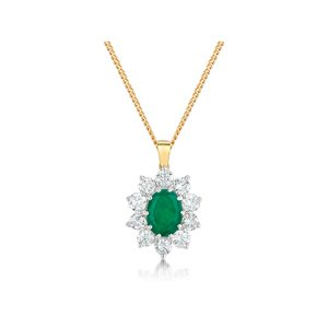 Emerald Diamond Pendants