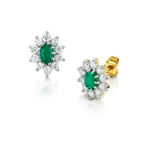 Emerald Gemstone Earrings