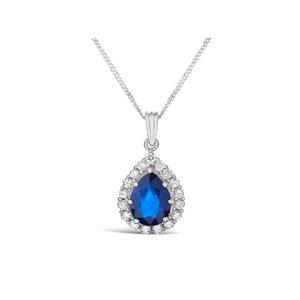 Sapphire Diamond Pendants
