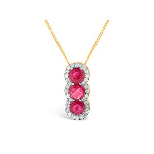 Ruby Diamond Pendants