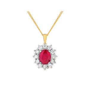Ruby Gemstone Pendants