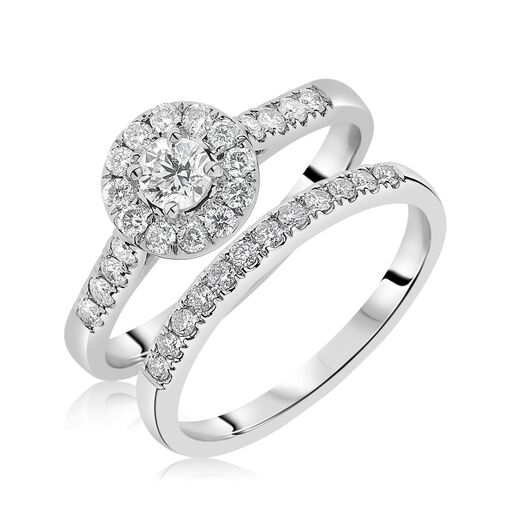 Halo and pave ring