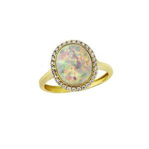 Opal Gemstone Rings